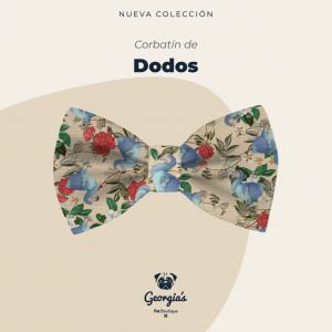 Corbatín para mascotas con diseño de dodos