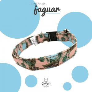 Collar para gato o perro pequeño de diferente tamaño, diseño de jaguares